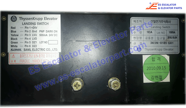 ESThyssenkruppKrupp Elevator Landing Switch 3K5N-0185 G01