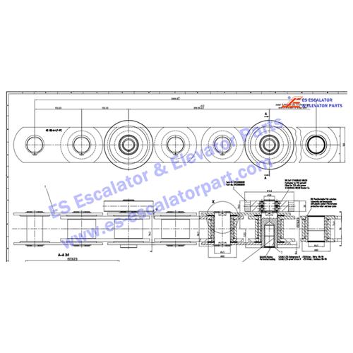 kone KM50049995G01 step chain 45 RO-A-LF-PC 4000ESLG 2STR
