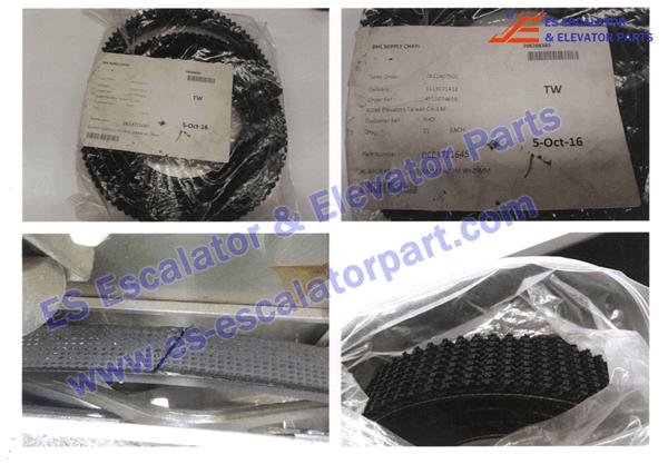 kone Escalator DEE2173645 handrail drive belt 2500*29mm*8mm