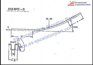 otis escalator guide GAA402BRK22