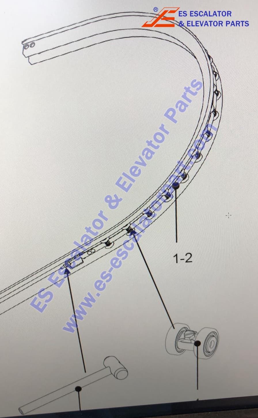 OTis Escalator DAA332AB51 Newell roller chain