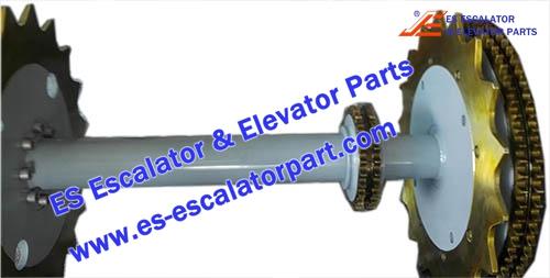 Thyssenkrupp Escalator Parts 1780383300 Main drive Axle