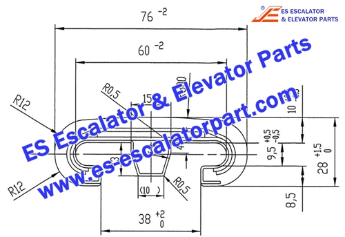 OTIS Escalator Parts V-Type 513 Handrail
