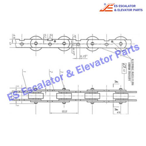 S650C902 180KN Chain with axle
