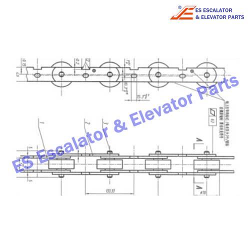 ESHYUNDAI S650C902 180KN Chain with axle