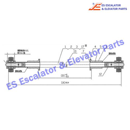 S650B001 180KN Chain with axle